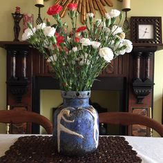 Vase, vessel or pot with a blue mottled glaze, nude dancers sculptured the 4 graces flower vase If YOU like to be different this is for YOU by Sherriffclay on Etsy