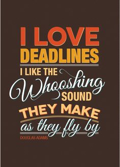 Douglas Adams-Typography Quotes by SaraFro