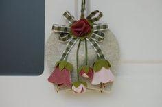 Fuoriporta a campana primaverile per #pasqua - vernal ornament to hang on the door, for #easter