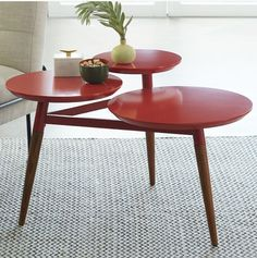 West Elm's Clover coffee table is a colorful take on mid-century modern.