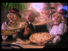 Godfather's Pizza vintage commercial
