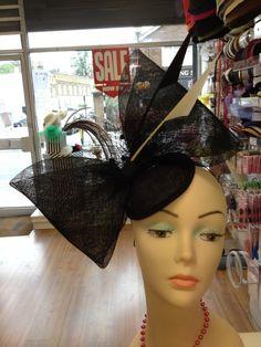 BLACK BOW BY TOYIN AKINWUSI #millinery #hats #HatAcademy
