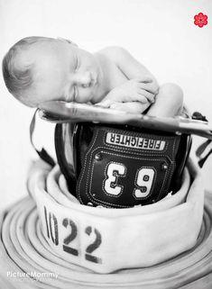 sweet. Fireman's baby:) Birth Announcement. Love.