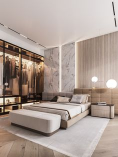87 extraordinary and inspiring home bedroom interior design for decoration 76 Modern Master Bedroom, Modern Bedroom Decor, Master Bedroom Design, Contemporary Bedroom, Home Bedroom, Bedroom Designs, Bedroom Simple, Master Suite, Fall Bedroom