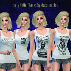 Mod The Sims - Harry Potter Tank Tops - Female
