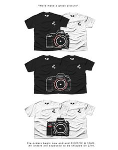 Valentine's Camera Shirts Complete Each Other