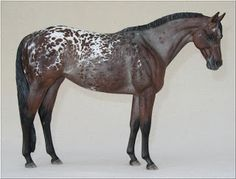 Liz Shaw's Victrix custom paint - model horse