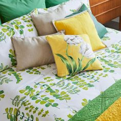Image 4 of the product Leaf Print Percale Cotton Duvet Cover