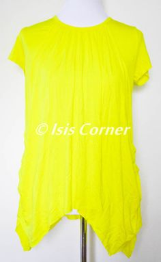 BRIGHT YELLOW WOMEN'S MATERNITY & NURSING LOOSE SHIRT SIZE M NEW NEVER USED #BEARSLAND #Tunic #Casual