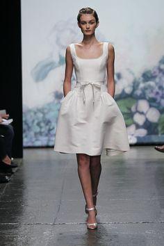 10 short wedding dresses to consider for a restaurant wedding or reception change.