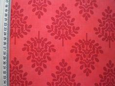 Tecido Importado 100% algodão - Ramos Vermelhos