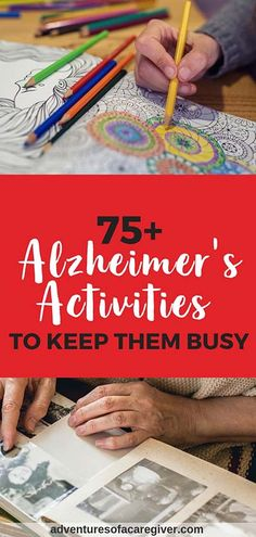 Stimulating Activities for Alzheimer's & Dementia Patients - Huge list of caregiver recommended Alzheimer's activities. Keep your loved one with dementia busy - Activities For Dementia Patients, Alzheimers Activities, Elderly Activities, Senior Activities, Dementia Care, Activities For Adults, Alzheimer's And Dementia, Work Activities, Activity Ideas