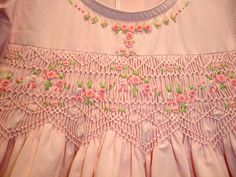 New boutique design hand emboidered smocked by CiaoBebeBoutique