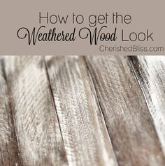 Make new wood look OLD with this tutorial on how to Weather Wood. This is a great process to use when you want that reclaimed look but are using new lumber!