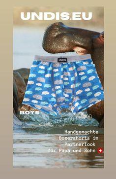 Du bist wild, flippig & einzigartig???  Dann bist du bei UNDIS genau richtig! Handgemachte Unterwäsche im Partnerlook für Jung und Junggebliebene. www.undis.eu #undis #boxershorts #herrenboxershorts #unterwäsche #handmade #handarbeit #nachhaltig #geschenkidee #individuell #mensfashion #underwear #boxer #lustigeboxershorts  #bunteboxershorts #handgemacht #elternleben #geschenkboxen #geburtstagsgeschenk #trend #kreativ #kindergarten #lustig Kindergarten, Underwear, Self, Daddy And Son, Men's Boxer Briefs, Father's Day, Unique, Homemade, Guys