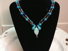 Double stranded bead necklace by MyFavoriteAccessory on Etsy, $23.00