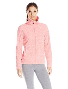 Calvin Klein Performance Womens Icy Polar-Fleece Zip Jacket * Want additional info? Click on the image. (This is an affiliate link) #TrackActiveJackets