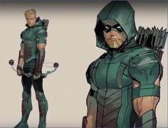 C. Green Arrow Rebirth color concept art