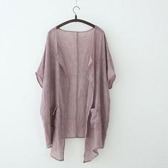 Plus Size Summer Sunscreen Solid Women Blouse Loose Cotton Linen Cardigans Sun Protection Long Cardigans Chunky Cardigan, Cotton Cardigan, Cardigans For Women, Blouses For Women, Light Summer Cardigan, Cardigan Outfits, Casual Outfits, Fall Outfits, Summer Outfits