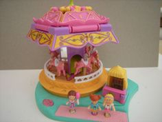 Polly Pocket - 1996 Spin Pretty Carousel Playset - Fun Fair