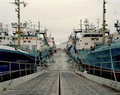 trawlers at midnight, kirkenes norway by jason koxvold