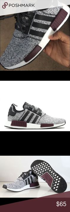 5ae57a8f2ea Adidas NMDs New without tags. Worn once outside to try on. Grayish with  purple