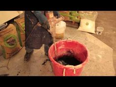Buddy Rhodes shows how to spray concrete with GFRC products.