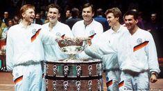 Davis Cup Pokal 1988 Becker Steeb Jelen Kühnen