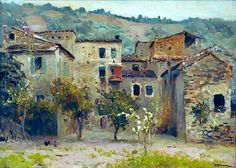 In the Vicinity of Bordighera, in the North of Italy (Isaak Levitan - ) Russian Landscape, Landscape Art, Landscape Paintings, Russian Painting, Russian Art, Mary Cassatt, Pierre Auguste Renoir, Pablo Picasso, Monet