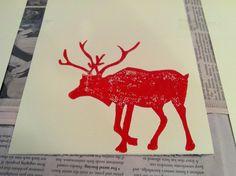 Image result for christmas lino print Simple Christmas, Moose Art, Xmas, Carving, Printing, Google Search, Christmas, Wood Carvings, Navidad