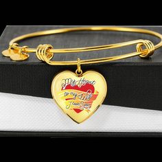 """Purchase This Best-seller and We Guarantee It Will Exceed Your Highest Expectations!  ➜ Our patent-pending jewelry is made of high quality surgical steel with a shatterproof liquid glass coating and 18k gold finish option.  This Adjustable Heart Bangle with Engraving Option Is the Perfect Gift for your beloved Wife and she is sure to treasure it and wear it with pride!  Product Dimensions  ➜ Luxury Bangle: 7-9"""" (18-22.75cm) adjustable  ➜ Heart Pendant: 24mm x 24mm Jewelry Shop, Jewelry Stores, Jewelry Art, Jewelry Design, Custom Jewelry, Best Gift For Wife, Gifts For Wife, Glass Coating, When You Kiss Me"""