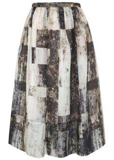 WHISTLES Olivia printed silk organza skirt £165.00