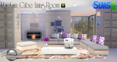 "SIMS 4 ""MODERN CUBE"" LIVING ROOM SET //"
