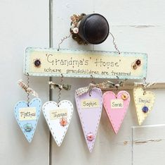 Personalised 'Grandma's House' Sign Keepsake Gift by Primitive Angel, the perfect gift for Explore more unique gifts in our curated marketplace. Homemade Gifts, Diy Gifts, Unique Gifts, Grandparents Day Crafts, Grandparent Gifts, Pintura Country, Country Paintings, 70th Birthday, Birthday Gifts