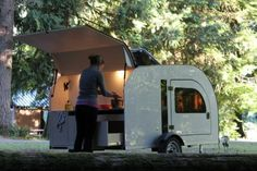 Droplet Teardrop trailer for Indoor and out