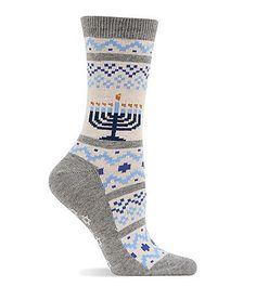 Hot Sox® Hanukkah Fair Isle Crew Socks   Bon-Ton