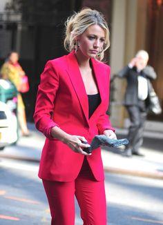 blake lively | pink blazer