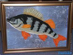 Приветствую дорогих жителей СМ!!!  Увидев почти год назад у ЕМ рыбёшку-http://stranamasterov.ru/node/147202, решила,что папе на День Рождения сделаю такую же. Ловит рыбу он не часто,но покушать очень любит!   Пересмотрела много картинок,но остановилась на окуне.   фото 1