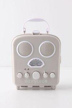 vintage look beach radio
