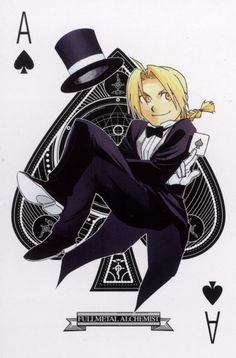 Fullmetal Alchemist, Edward Elric -- love the playing card design
