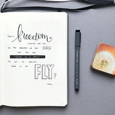 Bullet journal poetry page. | @bujoist