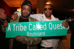 Jarobi and Consequence of A Tribe Called Quest at Phife Dawg's funeral on April 5, 2016 | Billboard