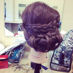 Five strand braid updo #hair #updo #braids