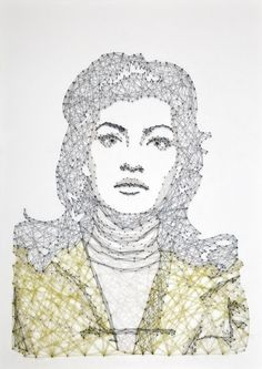 New Thread & Nail Portraits by Pamela Campagna