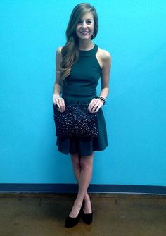 Bow Back Dress, $56.00