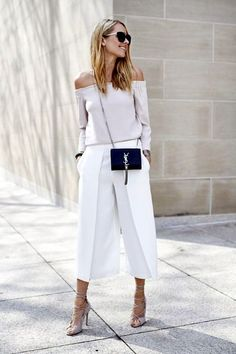 "we are here to talk about Culottes Outfit. So checkout Classy Culottes Outfit Ideas For Women"" Look Fashion, Womens Fashion, Fashion Trends, Street Fashion, 40s Fashion, Fashion Pants, Modest Fashion, Fashion Styles, Sneakers Fashion"