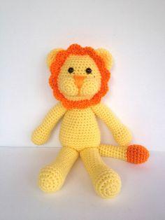 Crochet Lion by YouHadMeAtCrochet