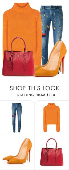 """""""Sans titre #51"""" by minii92 on Polyvore featuring mode, Alice + Olivia, Acne Studios et Christian Louboutin"""
