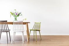 Olize Stoel - Groen Wishbone Chair, Retro Design, Dining Chairs, Furniture, Home Decor, Dinner Chairs, Homemade Home Decor, Dining Chair, Home Furnishings