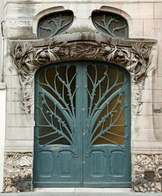 Door from the Huot Houses in Nancy, France.  | Loved and pinned by www.okanaganscreensolutions.com